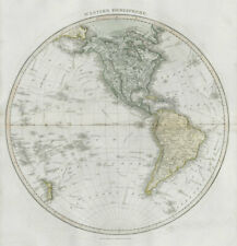 """Western hemisphere"". North & South America. Polynesia. THOMSON 1830 old map"