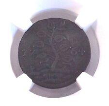 1764 Suriname Duit Coper Coin Long Grass Tree Brown NGC AU Det.
