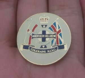 GLASGOW RANGERS NORTHERN IRELAND COLERAINE N.I.S.C PIN BADGE VGC