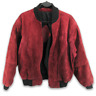 Vintage 80s German Leather Suede Bomber Jacket Red Womens XL Oversized