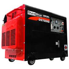DuroStar DS7000Q 6,500 Watt Enclosed Diesel Portable Generator - Remote Start