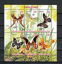 Tschad, Schmetterlinge Papillons Butterflies Kleinbogen Mini Sheet, 2011** MNH