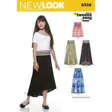 New Look Sewing Pattern 6338 Girls Tweens Teens 8-16 Easy Knit Skirts Inc Maxi