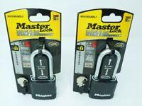 2 Master Lock Magnum Weather Proof Covered Laminated Steel Padlock (Keyed Alike)