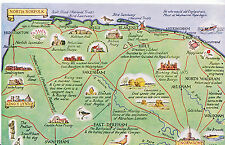 Map Postcard - Places of Interest in Norfolk  MB1754