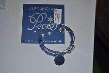 Alex and Ani Shiny Silver Peace Set of 2 Bracelets NWT