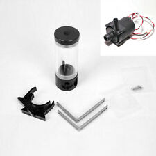Cylinder 140mm Reservoir Water Tank Plus Water Pump For PC Liquid Cooling