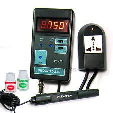 Medidor digital de pH CO2 Controlador Acuario portátil 0 ~ 14 ph 110 V o 220 V (PH-201)