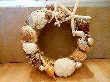 Beach Decor Handmade Seashell Wreath - Shell Wreath - Coastal Home Decor - Shell