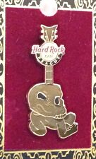 Hard Rock Cafe PRAGUE 2010 Core SKULL GUITAR PIN on CARD - HRC Catalog #56172