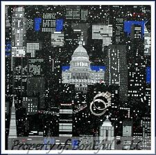 BonEful Fabric FQ Cotton Quilt 911 Hero NYC New York CITY Washington DC L Scenic