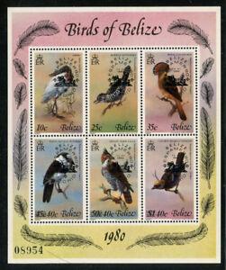 Belize 1980 ESPAMER Bird S/S Sc# 502 NH
