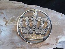 Design Coin/Moneda For Sterlina Necklace/Pendant 1 Large Genuine Mi Milano Crown