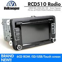 Autoradio VW RCD510 CD AUX USB SD CODE für Tiguan Passat Polo Golf Caddy TOURAN