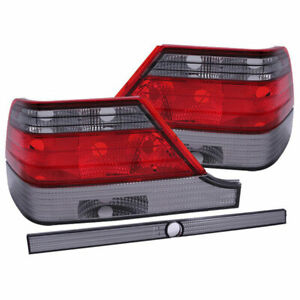 Anzo USA Euro Taillights Red/Smoke for Mercedes-Benz S Class W140 1997-1999