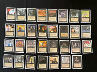 MTG Unlimited? & Revised (31) Black Common/Uncommon Cards NM-LP. Nice! See Pics!
