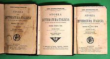 Storia della letteratura italiana 3 Vol. - Boghen Conigliani ed. Bemporad 1910