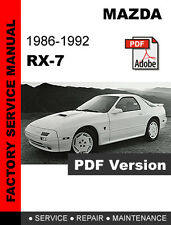 MAZDA RX7 RX-7 1986 - 1992 FC FACTORY OEM SERVICE REPAIR WORKSHOP FSM MANUAL