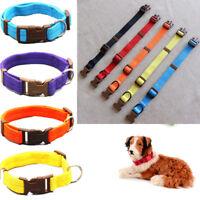 S-XL Adjustable Soft Fabric Pet Collar Nylon Leash Buckle&Clip Dog Cat Traction