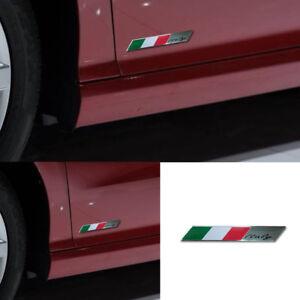 1* Italy Italian Flag Logo Emblem Metal Alloy Badge Car Motorcycle Decor Sticker
