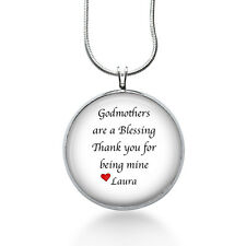 Godmother Necklace - Godmothers are a Blessing - Personalized - Christmas gifts