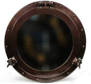 Nautical Maritime 10 inch Copper Finish Aluminum Porthole Mirror Frame