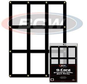 One BCW 9 Baseball Trading Card Screwdown Holder w/ Black Border frame protector