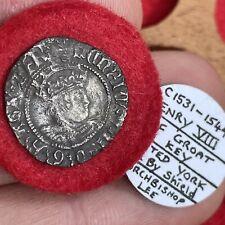 More details for henry viii, 1509-47. halfgroat, york mint. struck under archbishop lee, mm. key.