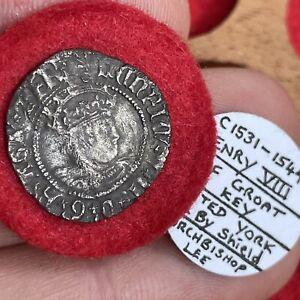 Henry VIII, 1509-47. Halfgroat, York Mint. Struck Under Archbishop Lee, mm. Key.