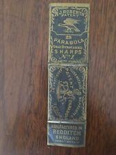 R.J. Roberts Parabola Gold Burnished No. 1 Needles, England, 25 Total Vintage