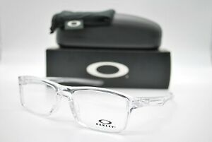 NEW OAKLEY OX8081-1153 PLANK 2.0 CLEAR AUTHENTIC EYEGLASSES FRAME RX 53-18