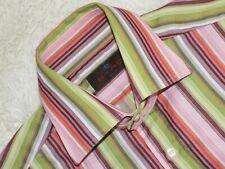 MENS ETRO MILANO Long Sleeve Striped Shirt Size 40