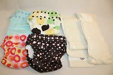 Infant Baby SwaddleBees Washable Re-Usable Cloth Nappy Diapers Liners Lot 4