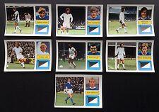 Leicester City FKS 1973-1974 il meraviglioso mondo di calcio STARS 7 X Adesivi