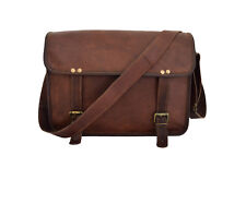 "Vintage Leather Messenger Bag 13"" Macbook Pro/Air Satchel CrossBody Shoulder Bag"