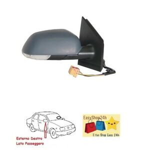 VW POLO 9n SPECCHIETTI Pagine Specchio Sinistra manualmente a partire dal 10//01-04//05 nuovo a partire dal GAL.