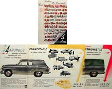 Simca Aronde Chatelaine Commerciale Messagere Camionnette French Sales Brochure