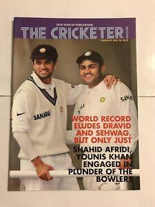 India vs Pakistan Cricket - The Cricketer Pakistan - Feb 06 - DRAVID & SEHWAG