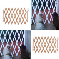 2 x Folding Dog Safety Fence Pet Isolation Gate Expanding Fence Outdoor Indoor