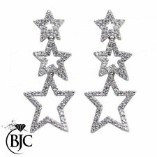 Drop/Dangle Natural White Gold VS1 Fine Diamond Earrings