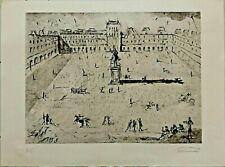 """Salvador Dali Etching """"La Grande Place Des Vosges""""  Hand signed and  H.C."""