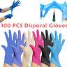100X Nitrile Latex Disposable Gloves Powder Free Non-Sterile Extured Glove