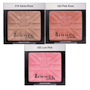 Rimmel Lasting Finish Soft Colour Mono Blush Blusher Powder, Rose Pink Peach, 4g