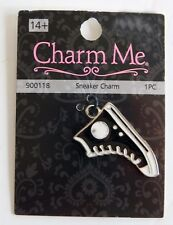 Jewelry Charm by Charm Me Hi-top Converse Style Sneaker Black & White New