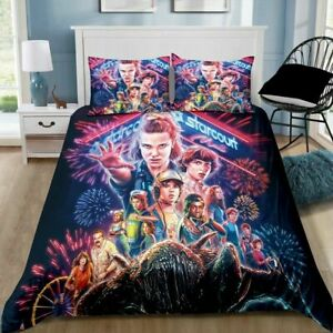 Stranger Things Quilt Cover Set Pillowcase Single Double Queen King Size Bedding