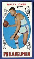 1969-70 Topps Basketball Wally Jones #54 Philadelphia 76ers EX