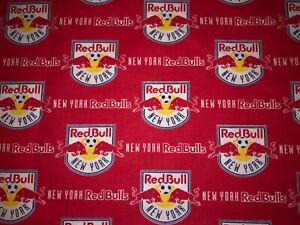 NEW NFL NEW YORK RED BULLS SOCCER METROS COTTON Fabric 1/4yard=9inX44in DIY MASK