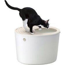 NEW IRIS Top Entry Cat Litter Box White PUNT-530 Japan Import