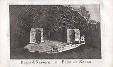 BAGNI TERME STUFE NERONE POZZUOLI - Incisione Originale Mariano Vasi 1821