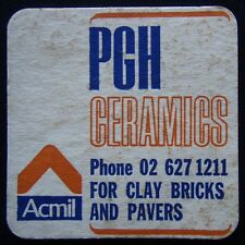PGH Ceramics For Clay Bricks And Pavers Acmil 02 6271211 Coaster (B12)